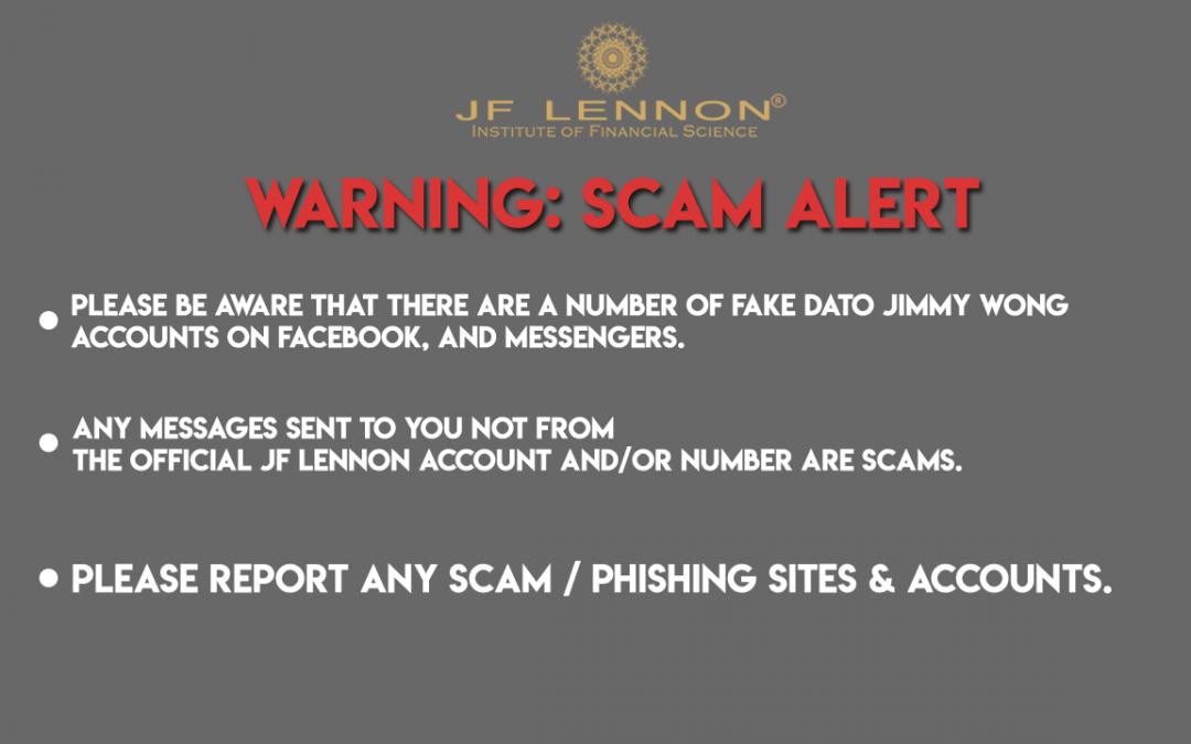Warning – Scams Alert!